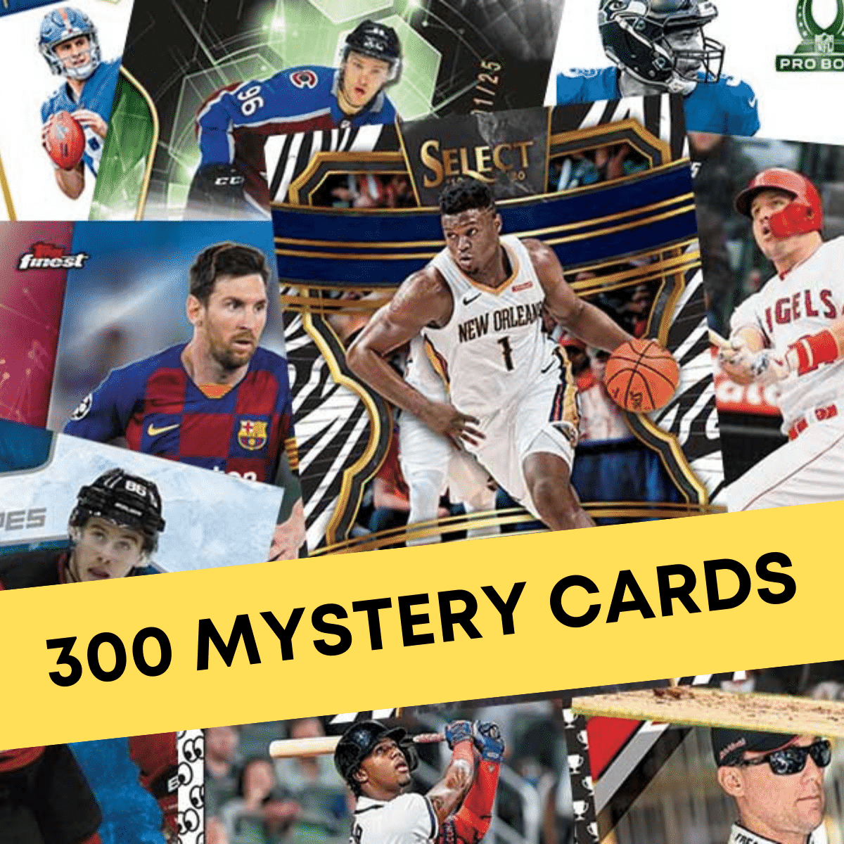 300 Mystery Sports Cards